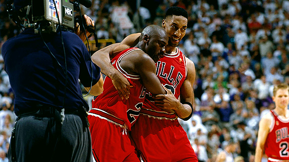Pippen helps Jordan with the flu